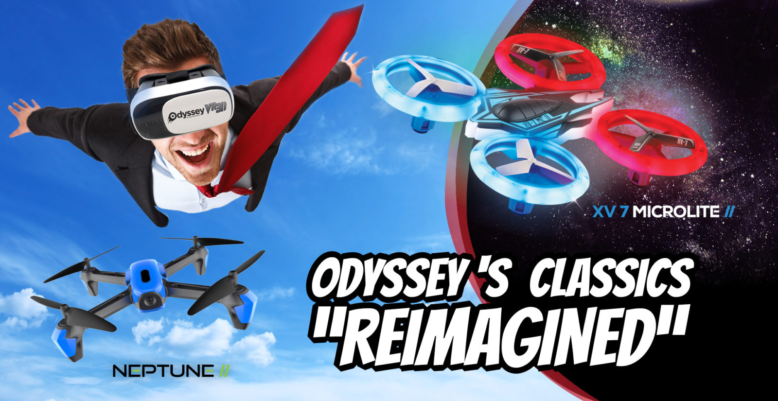 quad drone, camera drone, odyssey toys, LEDs, LED lights, superb right LEDs, drone, fun drone, toy drone